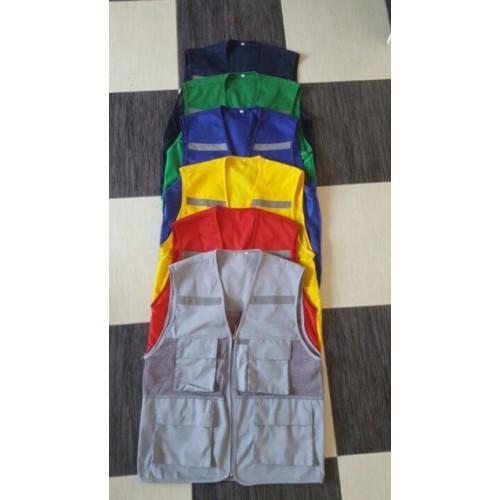 Áo phản quang ghile có túi+thêu logo