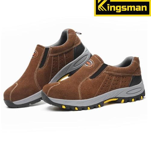 Giày bảo hộ lao động Kingsman Aiden màu nâu
