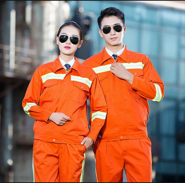 Quần áo công nhân màu cam